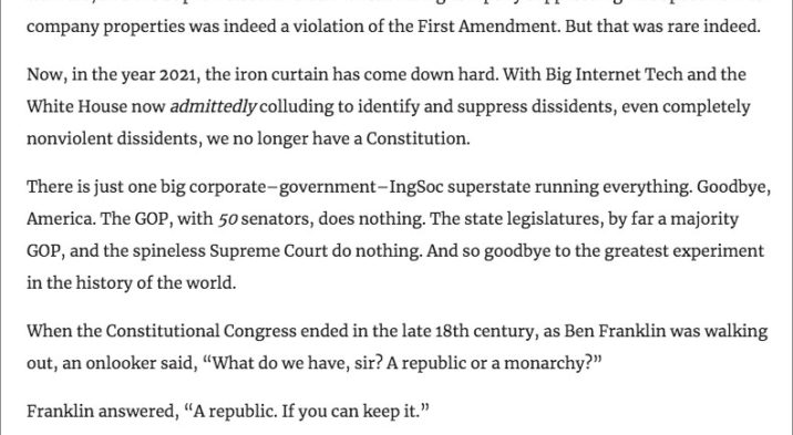 """Ben Stein's Eulogy To The USA – """"Goodbye America"""" ⋆ Conservative Firing Line"""